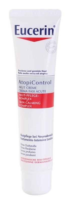 Eucerin AtopiControl Acute крем для сухої шкіри з відчуттям свербіння