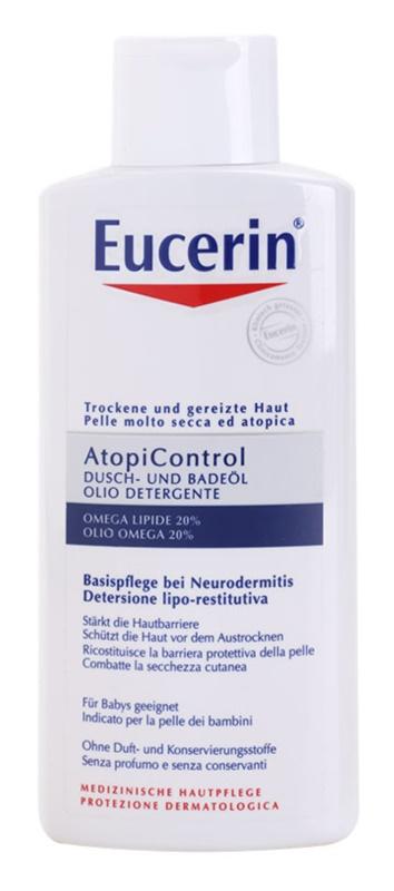 Eucerin AtopiControl tusoló és fürdőolaj száraz és viszkető bőrre