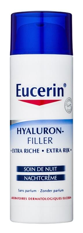 Eucerin Hyaluron-Filler nočna krema proti gubam za suho do zelo suho kožo