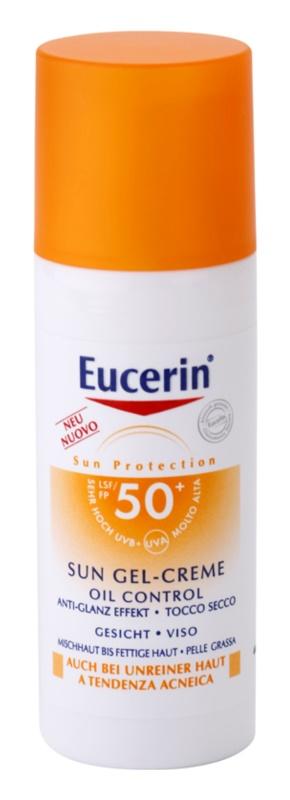 Eucerin Sun schützende Gel-Creme für das Gesicht SPF 50+