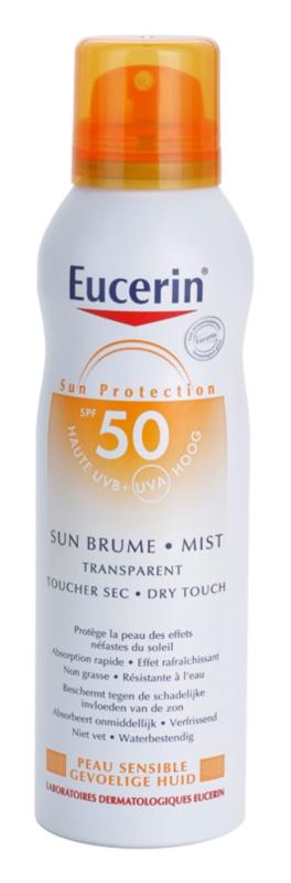 Eucerin Sun transparenter Nebel zum Bräunen SPF50