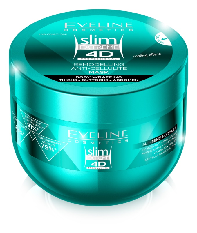 Eveline Cosmetics Slim Extreme Anti-Cellulite-Körpermaske mit kühlender Wirkung