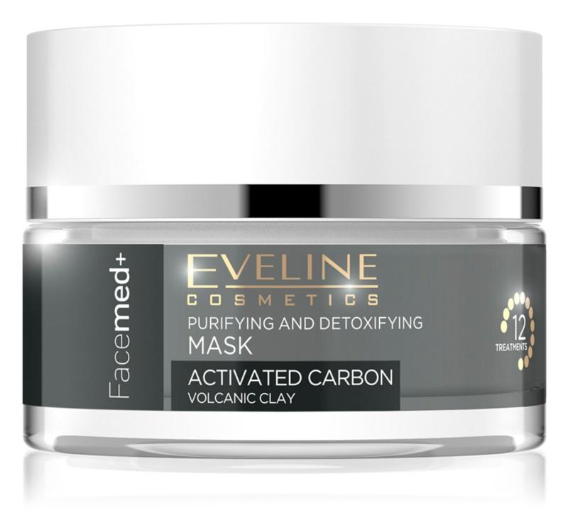 Eveline Cosmetics FaceMed+ masque nettoyant et détoxifiant au charbon actif