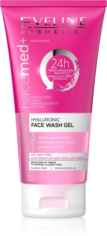 Eveline Cosmetics FaceMed+ čistilni gel 3 v 1 s hialuronsko kislino