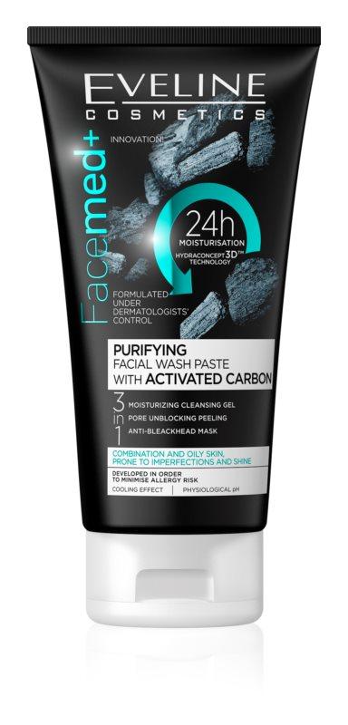 Eveline Cosmetics FaceMed+ čisticí pleťový gel 3 v 1 pro mastnou a smíšenou pleť
