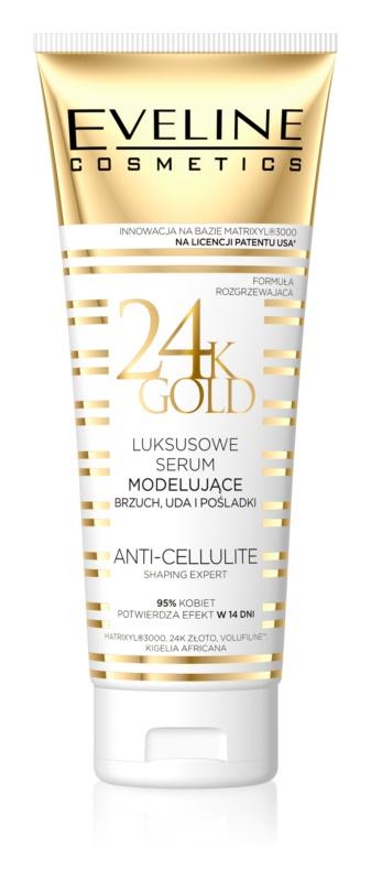 Eveline Cosmetics Slim Extreme 24k Gold modelujúce sérum na brucho, stehná a boky