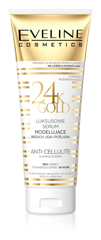 Eveline Cosmetics Slim Extreme 24k Gold serum za modeliranje za trebuh, stegna in zadnjico
