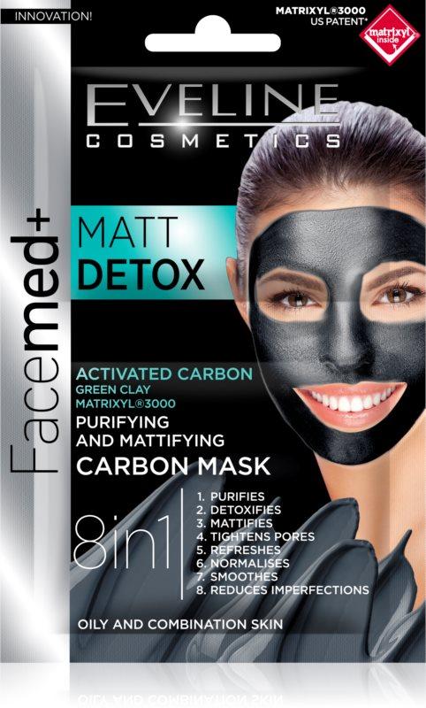 Eveline Cosmetics FaceMed+ pleťová maska pre mastnú a zmiešanú pleť