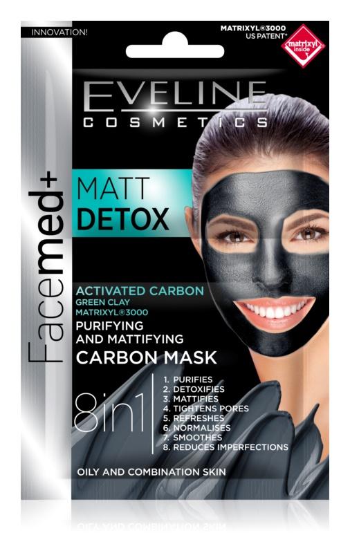 Eveline Cosmetics FaceMed+ pleťová maska pro mastnou a smíšenou pleť