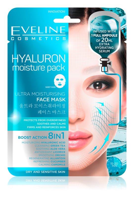 Eveline Cosmetics Hyaluron Moisture Pack hydratačná látková maska
