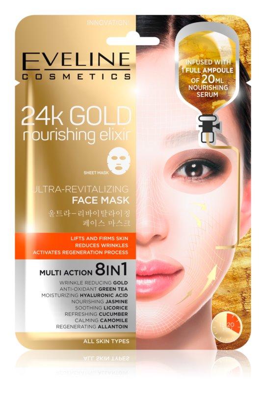 Eveline Cosmetics 24k Gold Nourishing Elixir liftingová maska