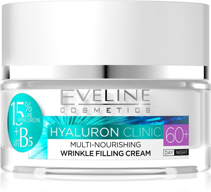 Eveline Cosmetics Hyaluron Clinic hranilna regeneracijska dnevna in nočna krema za zrelo kožo