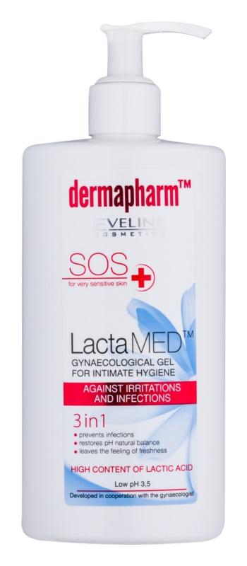 Eveline Cosmetics Dermapharm LactaMED gel igienă intimă pentru prevenirea iritațiilor și infecțiilor