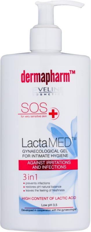 Eveline Cosmetics Dermapharm LactaMED gel intimo para a prevenção de irritações e inflamações
