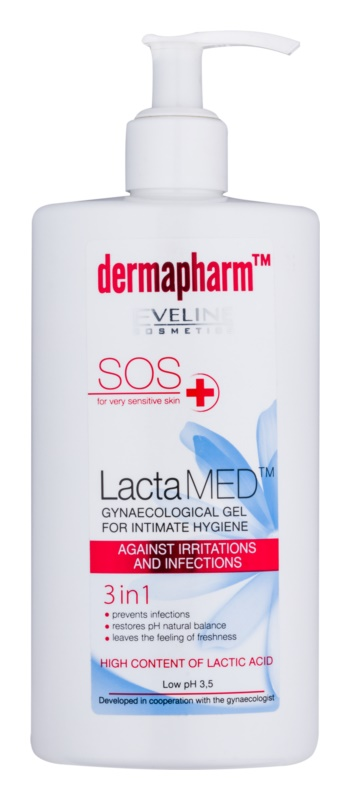 Eveline Cosmetics Dermapharm LactaMED Irritation and Inflammation Preventing Intimate Gel