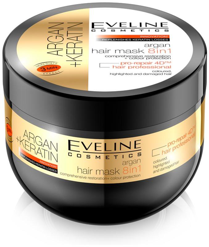 Eveline Cosmetics Argan + Keratin masca de par 8 in 1