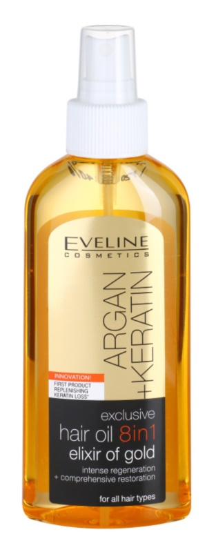 Eveline Cosmetics Argan + Keratin óleo capilar 8 em 1