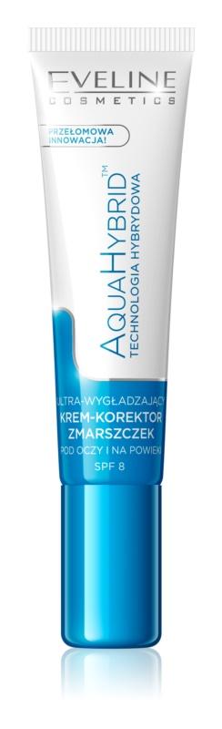 Eveline Cosmetics Aqua Hybrid crema de contorno de ojos para eliminar las ojeras y arrugas SPF 8