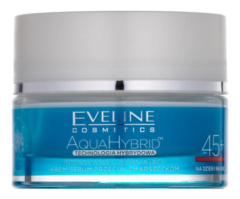 Eveline Cosmetics Aqua Hybrid intenzívny spevňujúci denný a nočný krém 45+