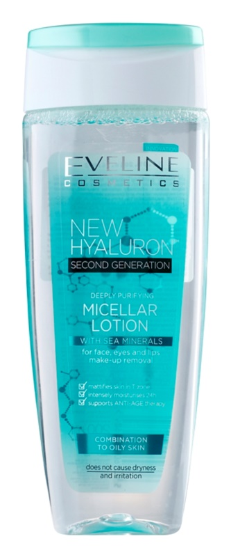 Eveline Cosmetics BioHyaluron 4D Cleansing Micellar Water for Oily and Combiantion Skin