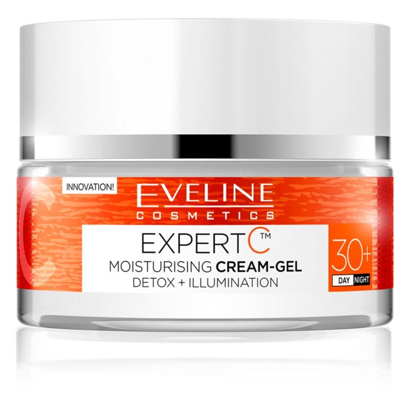 Eveline Cosmetics Expert C gel creme hidratante para o dia e noite 30+