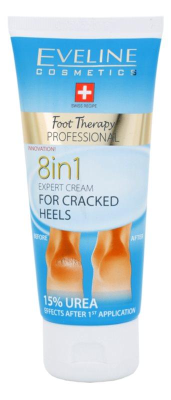 Eveline Cosmetics Foot Therapy creme para calcanhares rachados 8 em 1