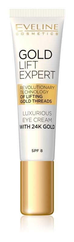 Eveline Cosmetics Gold Lift Expert luxusní krém na oči a víčka s 24 karátovým zlatem