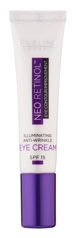 Eveline Cosmetics Neo Retinol protivráskový rozjasňující oční krém SPF15