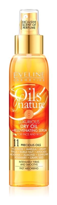 Eveline Cosmetics Oils of Nature luxus száraz olaj fiatalító szérummal
