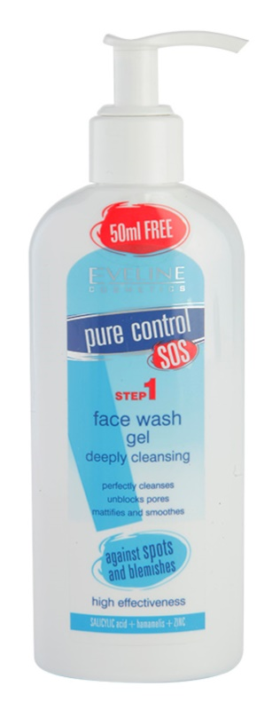 Eveline Cosmetics Pure Control gel para lavar de limpieza profunda