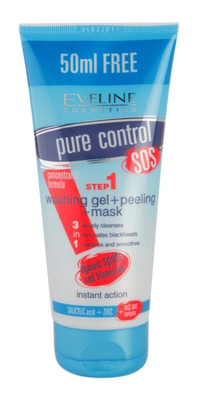 Eveline Cosmetics Pure Control čisticí gel 3 v 1