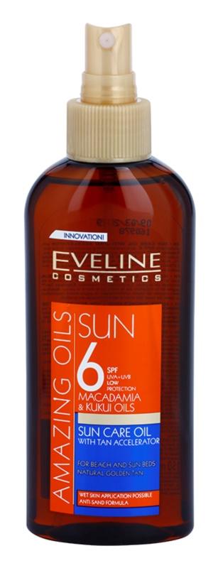 Eveline Cosmetics Sun Care olej v spreji na opaľovanie SPF 6