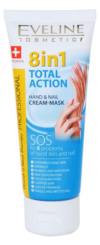 Eveline Cosmetics Total Action creme para mãos e unhas 8 em 1