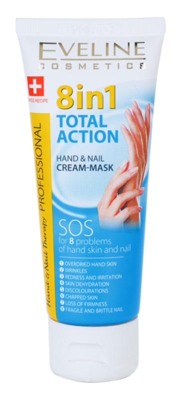 Eveline Cosmetics Total Action krém na ruce a nehty 8 v 1