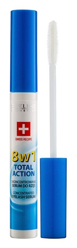 Eveline Cosmetics Total Action сироватка для вій 8 в 1