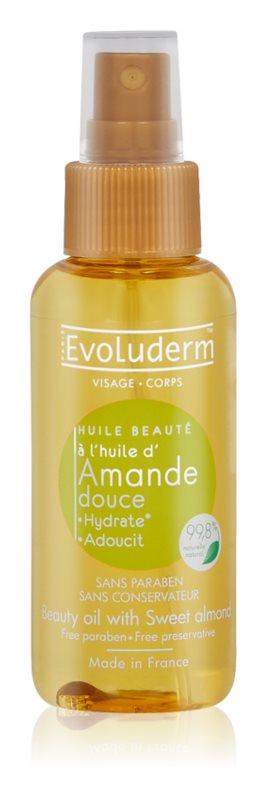 Evoluderm Beauty Oil ulei de frumusete pentru piele și păr cu extract de migdale