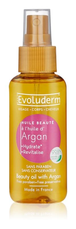 Evoluderm Beauty Oil ulei de frumusete pentru piele și păr cu ulei de argan