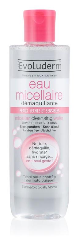Evoluderm Micellar Water apa pentru curatare cu particule micele pentru piele uscata spre sensibila