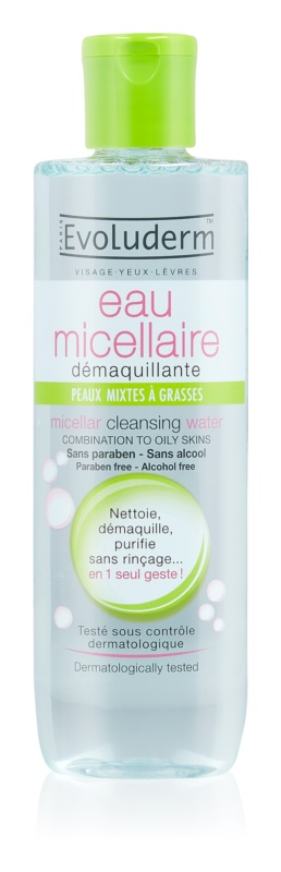 Evoluderm Micellar Water Cleansing Micellar Water for Oily and Combiantion Skin