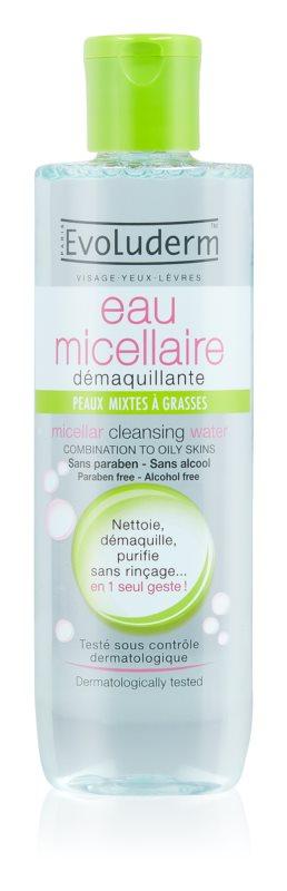 Evoluderm Micellar Water eau micellaire nettoyante pour peaux grasses et mixtes
