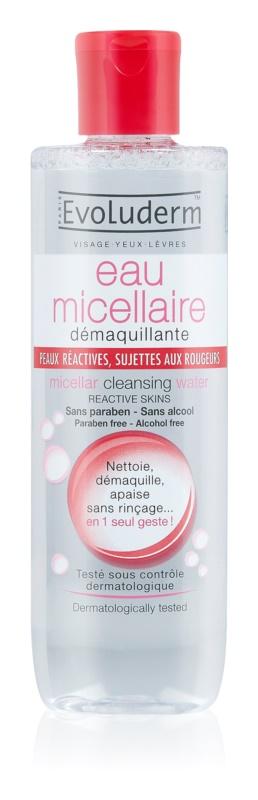 Evoluderm Micellar Water eau micellaire démaquillante pour peaux réactives