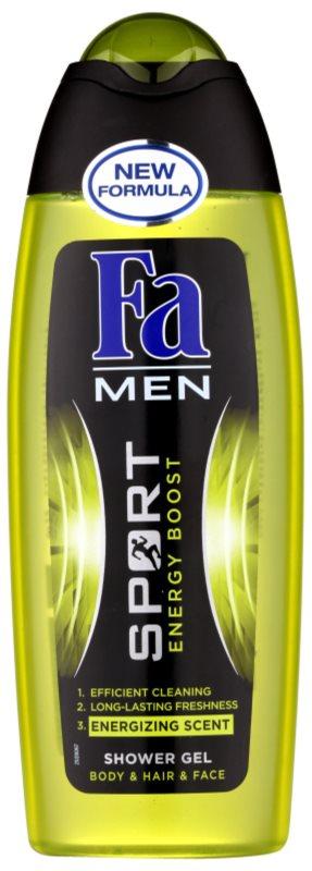 Fa Men Sport Energy Boost gel de ducha para cara, cuerpo y cabello
