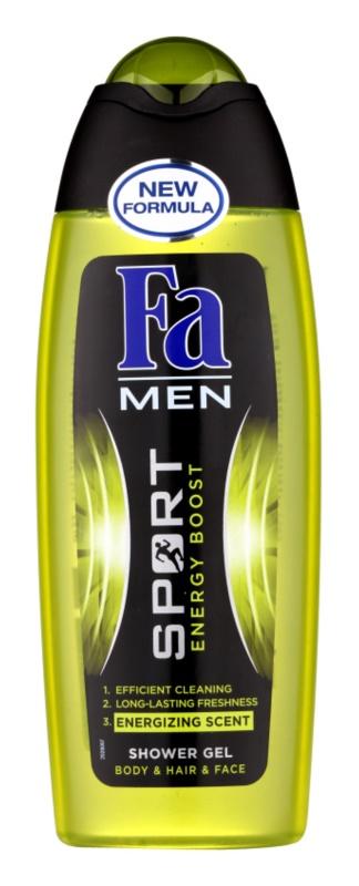 Fa Men Sport Energy Boost tusfürdő gél arcra, testre és hajra