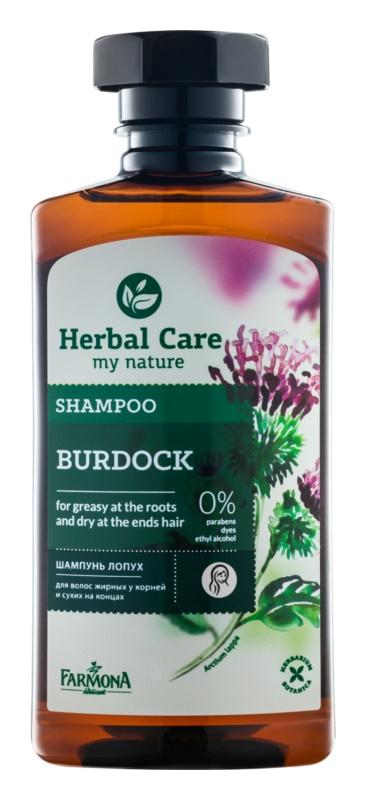 Farmona Herbal Care Burdock Shampoo für fettige Haare und trockene Haarspitzen