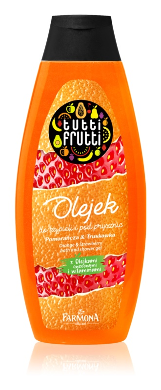 Farmona Tutti Frutti Orange & Strawberry Gel-Öl für Bad und Dusche