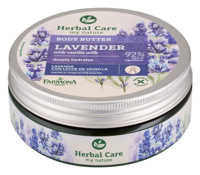 Farmona Herbal Care Lavender manteiga corporal de hidratação profunda