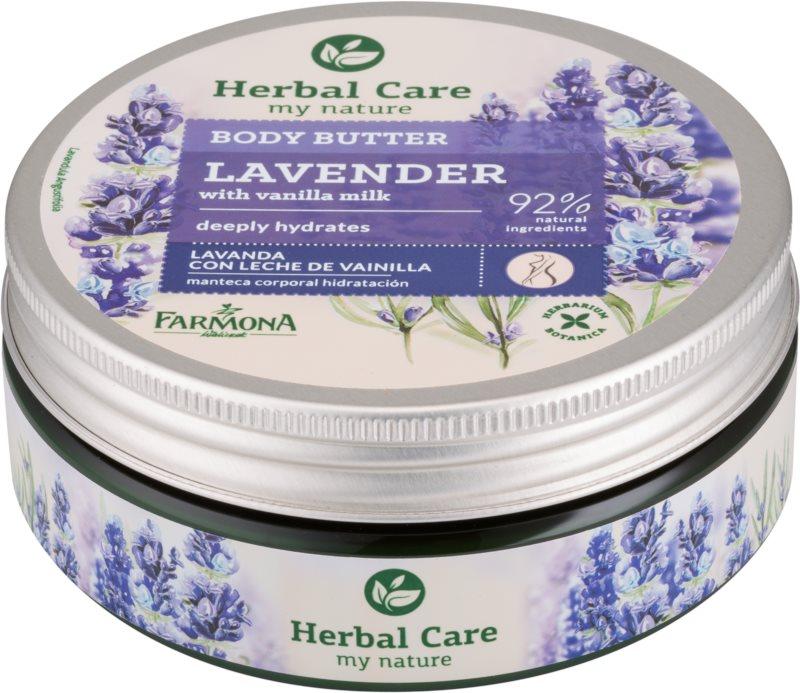 Farmona Herbal Care Lavender mantequilla corporal para una hidratación profunda