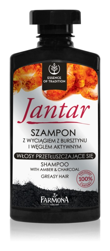 Farmona Jantar šampón s aktívnymi zložkami uhlia pre mastné vlasy