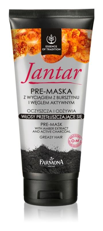 Farmona Jantar maseczka do włosów  z węglem aktywnym do włosów przetłuszczających