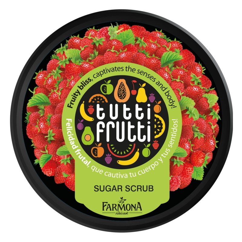 Farmona Tutti Frutti Wild Strawberry Body Scrub With Sugar